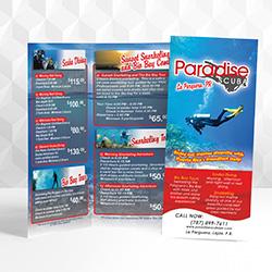 Paradise Scuba Brochure